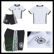 Camisa Alemanha Autêntico I Euro 2016 Infantil
