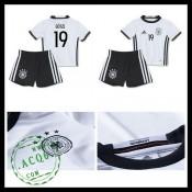 Camisa De Futebol (19 Gotze) Alemanha Autêntico I Euro 2016 Infantil