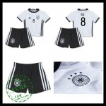 Camisas De Futebol (8 Ozil) Alemanha Autêntico I Euro 2016 Infantil