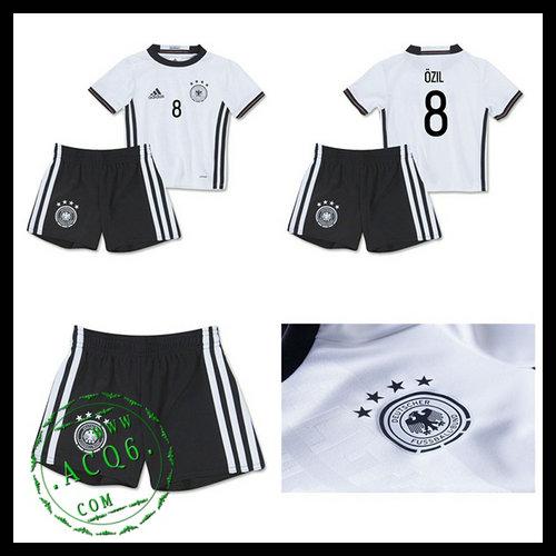 f159c87e73 Camisas De Futebol (8 Ozil) Alemanha Autêntico I Euro 2016 Infantil ...