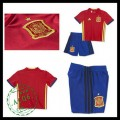 Camisas Futebol Espanha Autêntico I Euro 2016 Infantil
