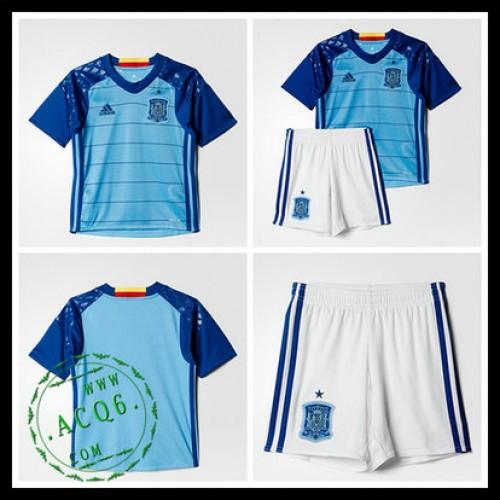 Camisas Futebol Espanha Autêntico I Goleiro Euro 2016 Infantil ... 75bda90511867