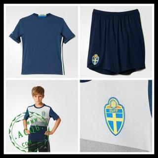 573aaa8594 Camisas Suécia Autêntico Ii Euro 2016 Infantil - camisolas de ...
