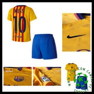 Camisas De Futebol Barcelona (10 Messi) 2015/2016 Ii Infantil
