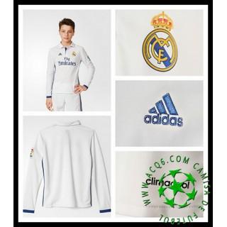 Uniformes De Futebol Real Madrid Manga Longa 2016 2017 I Infantil