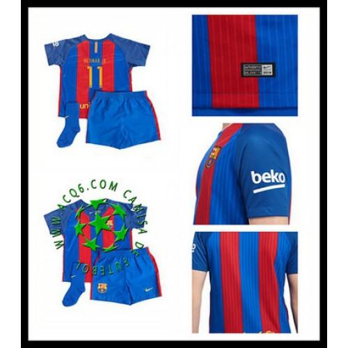 3373a4f6c9 Crie Sua Camisa Futebol Nermay Jr Barcelona Infantil 2016 2017 I On-Line