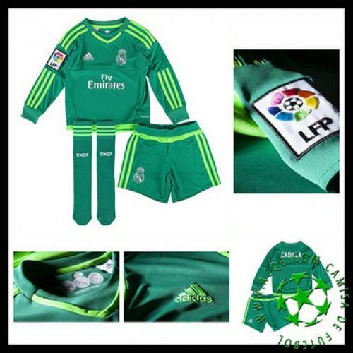 5e905f2918bfa Camisa De Futebol Real Madrid Manga Longa Goleiro 2015 2016 Ii Infantil