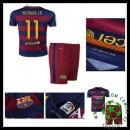 Camisetas Barcelona (11 Neymar Jr) 2015 2016 I Infantil