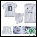 Camisa De Futebol Real Madrid (10 James) 2015-2016 I Infantil