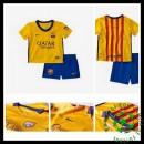 Camisa De Futebol Barcelona 2015 2016 Ii Infantil