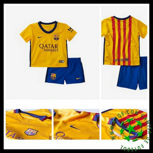 Camisa De Futebol Barcelona 2015 2016 Ii Infantil - camisolas de ... 3c442a6f733