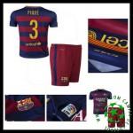 Camisas Futebol Barcelona (3 Pique) 2015-2016 I Infantil