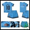 Uniforme De Futebol Barcelona (10 Messi) 2015 2016 Iii Infantil