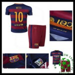 Uniformes De Futebol Barcelona (10 Messi) 2015/2016 I Infantil