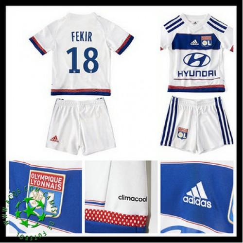 60a8b83bd83cd Camisas De Futebol Olympique Lyonnais Fekir 2015 2016 I Infantil ...