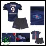 Uniforme De Futebol Paris Saint Germain Cavani 2015-2016 I Infantil