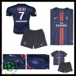 Camisetas Paris Saint Germain Lucas 2015 2016 I Infantil