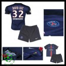 Camisas Futebol Paris Saint Germain David Luiz 2015-2016 I Infantil