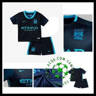 Camisetas Manchester City 2015/2016 Ii Infantil