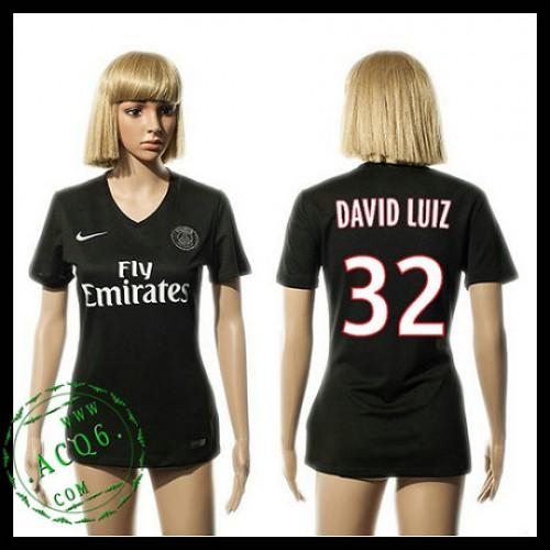 Psg Camisa Futebol David Luiz 2015-2016 Iii Feminina - Camisa Clube ... 6d88207fa860d