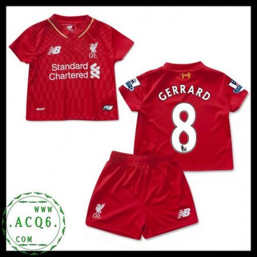 2e98b702df268 Comprar Camisa Futebol Steven Gerrard Liverpool Infantil 2015 2016 I Online  Store