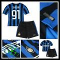 Camisa De Futebol Inter De Milão (91 Shaqiri) 2015-2016 I Infantil