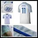 Camisas De Futebol Inglaterra Sterling Euro 2016/2017 I Masculina