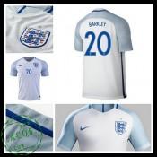 Camisa Du Futebol Inglaterra Barkley Euro 2016/2017 I Masculina