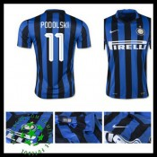 Camisa Futebol Inter De Milão (11 Podolski) 2015-2016 I Masculina