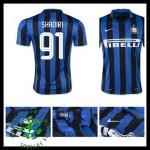 Camisas De Futebol Inter De Milão (91 Shaqiri) 2015 2016 I Masculina