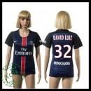 Psg Camisetas David Luiz 2015 2016 I Feminina