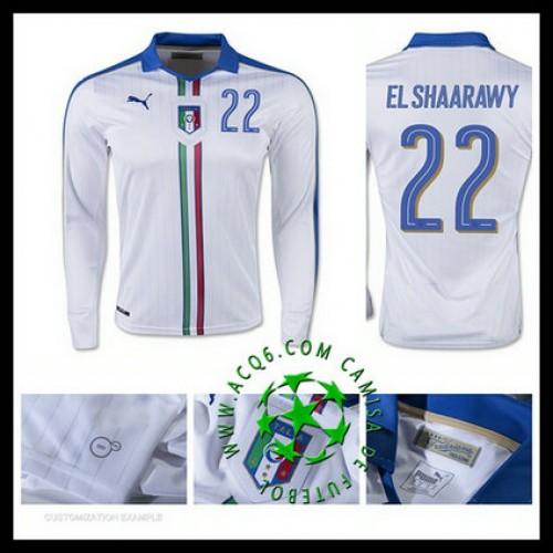Atacadista Uniforme Futebol Manga Longa El Shaarawy Itália Masculina 2016  2017 Ii Loja On-Line 467515cb42473