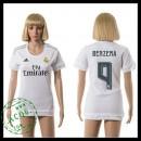 Real Madrid Camisa De Futebol Benzema 2015 2016 I Feminina