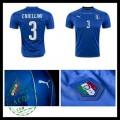 Camisas (3 Chiellini) Itália Autêntico I Euro 2016 Masculina