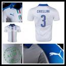 Camisa De Futebol (3 Chiellini) Itália Autêntico Ii Euro 2016 Masculina