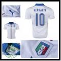 Camisa Futebol (10 Verratti) Itália Autêntico Ii Euro 2016 Masculina