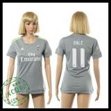 Real Madrid Camisa Du Futebol Bale 2015/2016 Ii Feminina