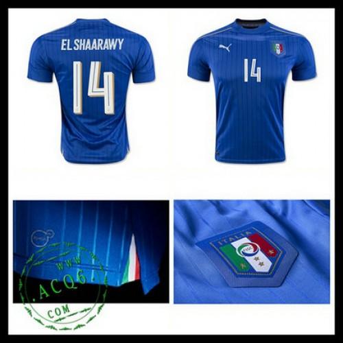 Camisa Futebol (14 El Shaarawy) Itália Autêntico I Euro 2016 Masculina b9453ba7db2f1