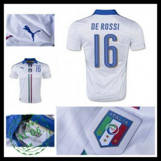 Camisa Futebol (16 De Rossi) Itália Autêntico Ii Euro 2016 Masculina