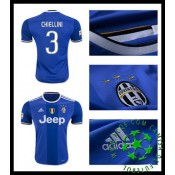 Camisa De Futebol Juventus Chiellini 2016 2017 Ii Masculina