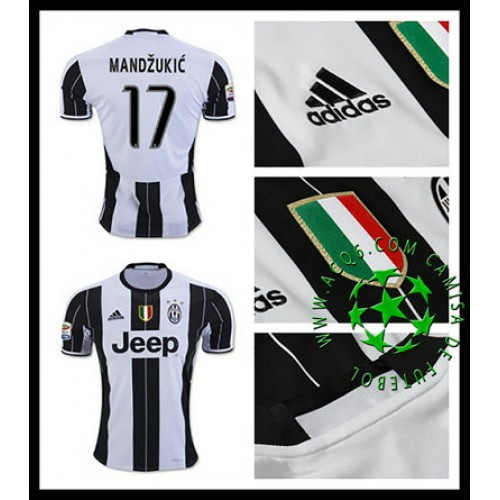 e770d5c0a7 Camisas Futebol Juventus Mandzukic 2016-2017 I Masculina - camisolas ...