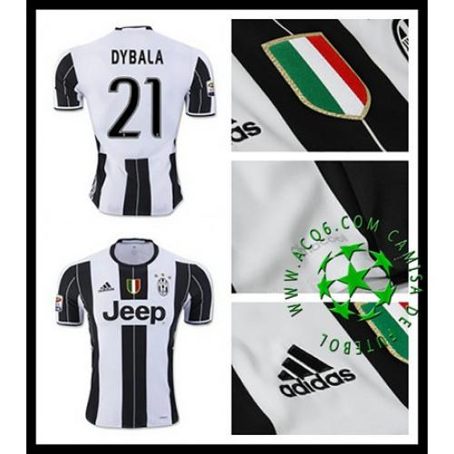 c0bf6ba43d Camisa Juventus Dybala 2016-2017 I Masculina - camisolas de futebol ...
