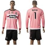 Juventus Camisa Futebol Buffon Manga Longa 2015 2016 Ii Masculina