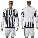 Juventus Camisa Futebol Manga Longa 2015-2016 I Masculina