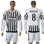 Juventus Camisa Futebol Marchisio Manga Longa 2015/2016 I Masculina