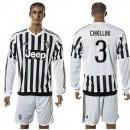 Juventus Camisas De Futebol Chiellini Manga Longa 2015/2016 I Masculina
