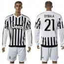 Juventus Camisas Dybala Manga Longa 2015-2016 I Masculina