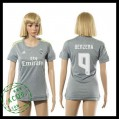 Real Madrid Camisas De Futebol Benzema 2015/2016 Ii Feminina