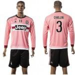 Juventus Camisas Futebol Chiellini Manga Longa 2015-2016 Ii Masculina