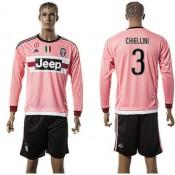 0fb562d855 Juventus Camisas Futebol Chiellini Manga Longa 2015-2016 Ii Masculina